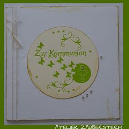 Kommunionkarte Schmetterling