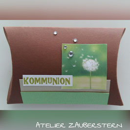 Geschenksverpackung Pusteblume Kommunion