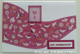 Kommunonkarte Kelch pink