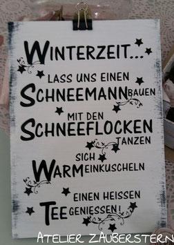 Holzschild Winter