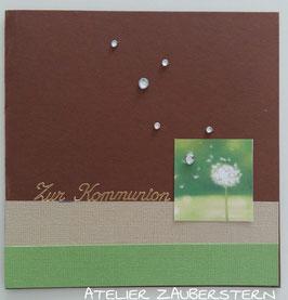 Kommunionkarte Pusteblume