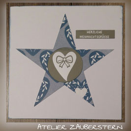 WEIHNACHTSKARTE/ HERZ