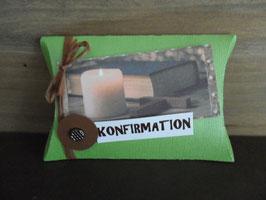 Geschenkverpackung Kerzenschein Konfirmation