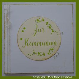 Kommunionkarte Schriftzug zur Kommunion