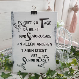 Holzschild Schokolade