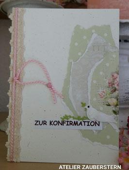 Konfirmationskarte Rosen