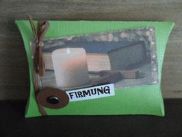 Geschenksverpackung Kerzenschein