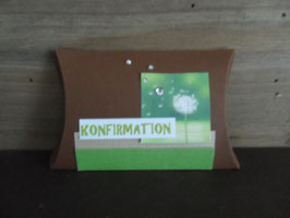 Geschenksverpackung Pusteblume Konfirmation