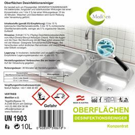 MediSen Oberflächendesinfektionsreiniger Konzentrat 10l