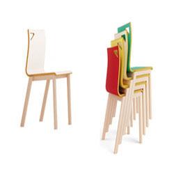 Silla infantil apilable estructura en madera