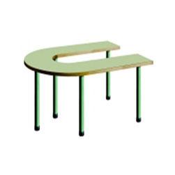 Mesa en U, estructura en tubo de acero
