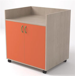 Mueble cambiador con 1 estante