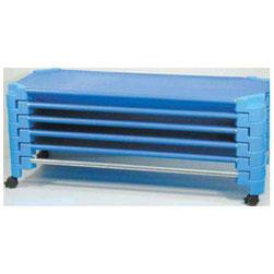 Base para transportar camas apilables con ruedas