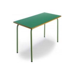 Mesa rectangular, estructura en tubo de acero