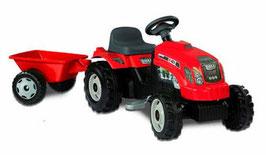 Tractor GM Rojo con remolque