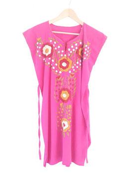 Flower power Sommerkleid, Tunika (pink)