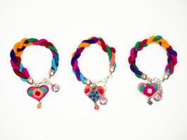 Armband (3) mit Herz-Anhänger aus Mexiko
