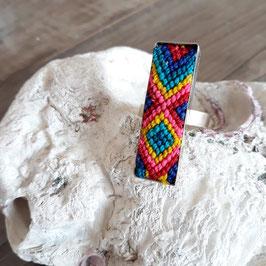 Ring lang bestickt multicolor aus Mexiko (handmade)