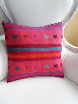 Boho Deko-Kissen Streifen (lachs-rosa) aus Mexiko