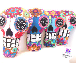 Halloween-Deko, Kissen: Calavera/Totenkopf (gross) aus Mexiko