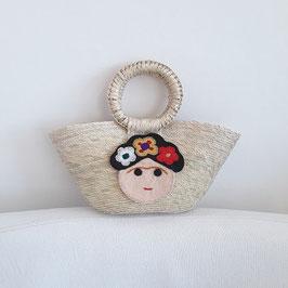 Kindertasche /Shopper mini (beige) mit Frida (1)