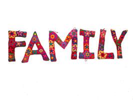 "Buchstaben ""Family"" bunt"
