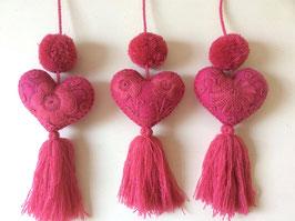 Herzchen pink (2 pom poms)