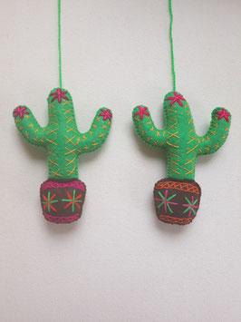 Kaktus Deko, bestickt (1)