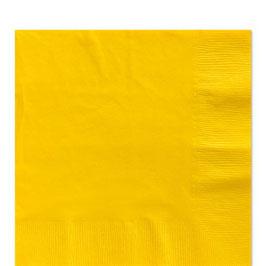 Gelbe Servietten, 33cm x 33cm