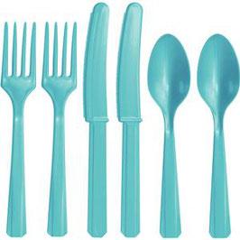 Blaues Plastik-Besteck