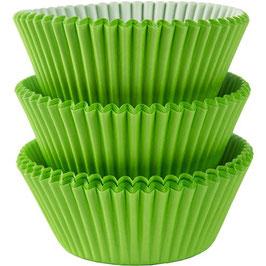 Grüne Cupcake-Förmchen
