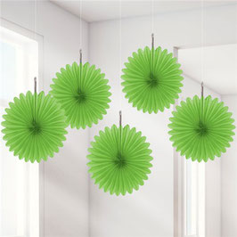 Grüne Papier-Fächer