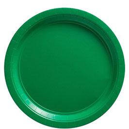 Grüne Pappteller, 20 Stk.