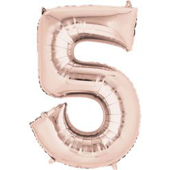 "Folienballon Rosé Gold ""5"", 41cm"