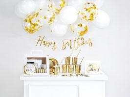 Partyset Happy Birthday in gold
