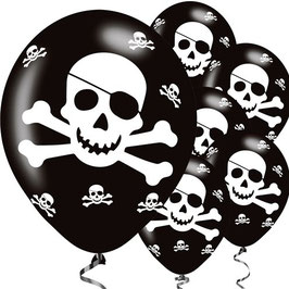Piraten Ballons, 6 Stk.