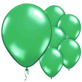 Grüne metallic Ballons, 10 Stk.
