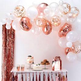Ballon Girlande Rosé Gold