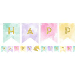 Einhorn Happy Birthday Banner