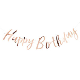 "Rose Gold ""Happy Birthday"" Banner"