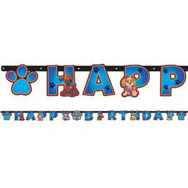 "Paw Patrol Banner ""Happy Birthday"""