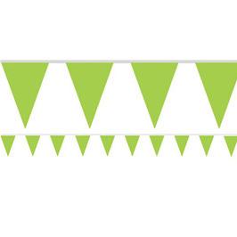 Grüne Fähnchengirlande