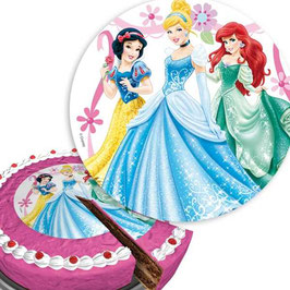 Disney-Prinzessin Tortenaufleger, 16cm aus Zuckerguss