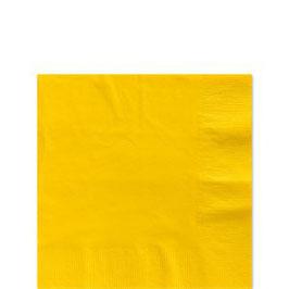 Gelbe Servietten, 25cm x 25cm