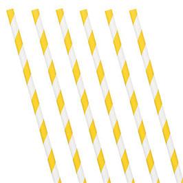 Gelbe Papierstrohhalme