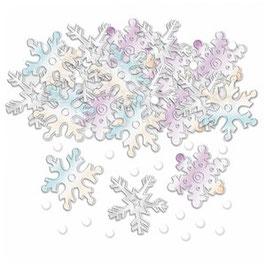 Irisierende Schneeflocken Tischkonfetti