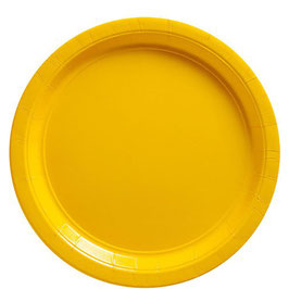 Gelbe Pappteller, 20 Stk.