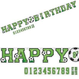 "Fussball Banner ""Happy Birthday"""