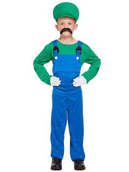 Grüner Super Klempner Kostüm