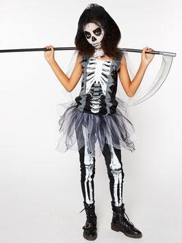 Skelett-Sensenmann für Mädchen